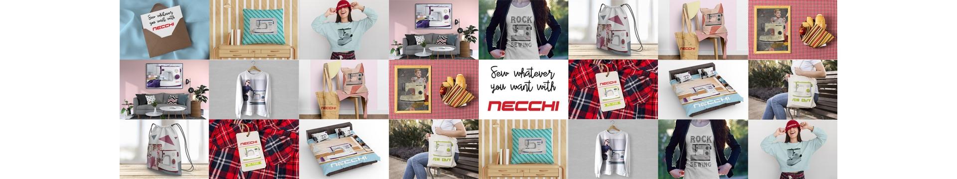 Necchi K417A Machine m/écanique oscillante avec 17 points boutonni/ère automatique